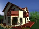 case de lemn cu mansarda